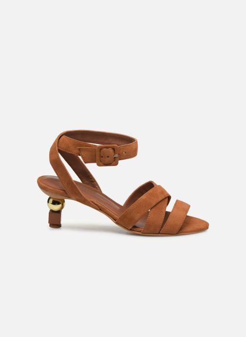 Sandalen Made by SARENZA Riviera Couture Sandales à Talon #6 Bruin detail