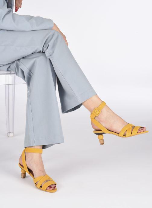 Sandali e scarpe aperte Made by SARENZA Riviera Couture Sandales à Talon #6 Giallo immagine dal basso