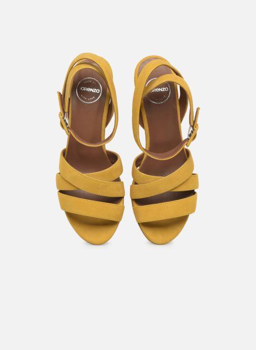 Sandali e scarpe aperte Made by SARENZA Riviera Couture Sandales à Talon #6 Giallo modello indossato