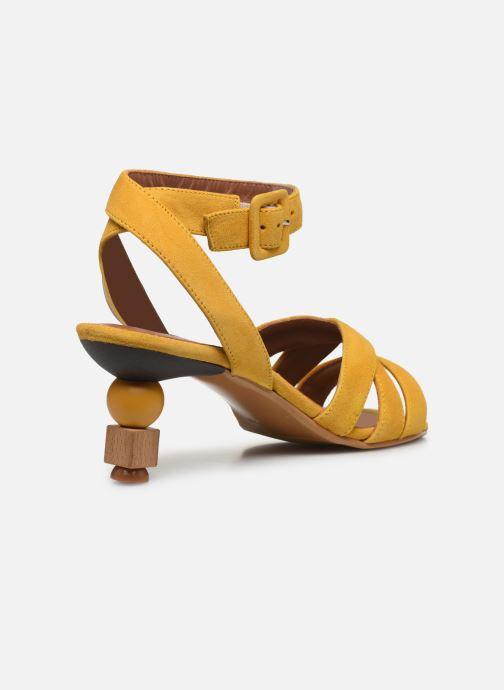 Sandali e scarpe aperte Made by SARENZA Riviera Couture Sandales à Talon #6 Giallo immagine frontale