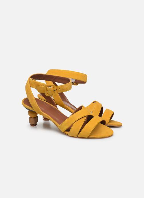 Sandali e scarpe aperte Made by SARENZA Riviera Couture Sandales à Talon #6 Giallo immagine posteriore