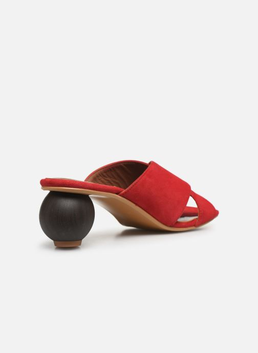 Zuecos Made by SARENZA Riviera Couture Mule #1 Rojo vista de frente
