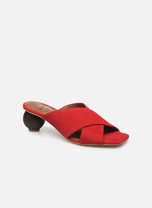 Zuecos Made by SARENZA Riviera Couture Mule #1 Rojo vista lateral derecha