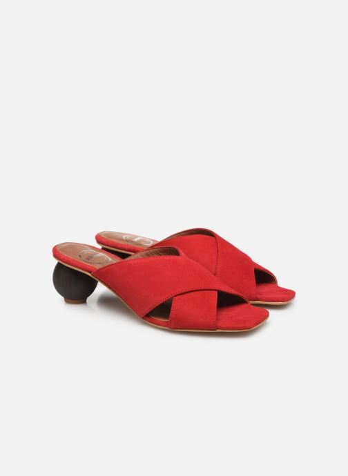 Wedges Made by SARENZA Riviera Couture Mule #1 Rood achterkant