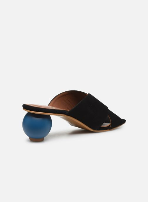 Zuecos Made by SARENZA Riviera Couture Mule #1 Negro vista de frente