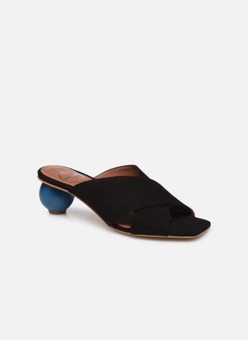 Zuecos Made by SARENZA Riviera Couture Mule #1 Negro vista lateral derecha