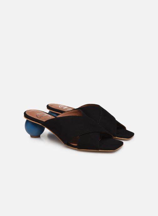 Zuecos Made by SARENZA Riviera Couture Mule #1 Negro vistra trasera