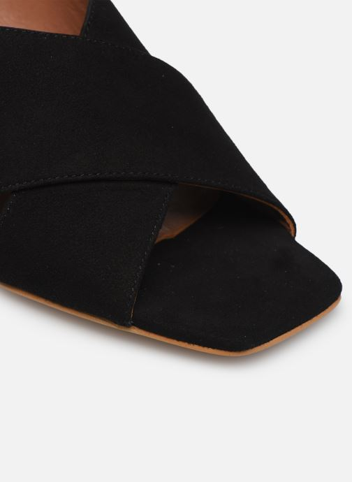 Zuecos Made by SARENZA Riviera Couture Mule #1 Negro vista lateral izquierda