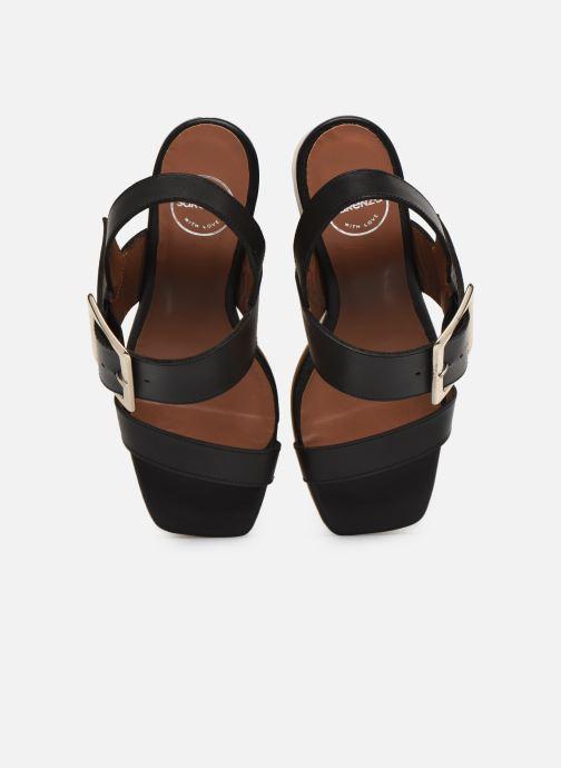 Sandales et nu-pieds Made by SARENZA South Village Sandales à Talons #5 Noir vue portées chaussures