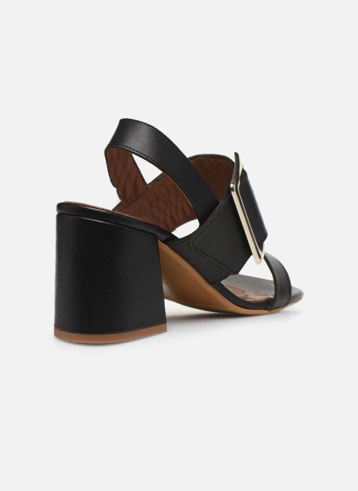 Sandales et nu-pieds Made by SARENZA South Village Sandales à Talons #5 Noir vue face