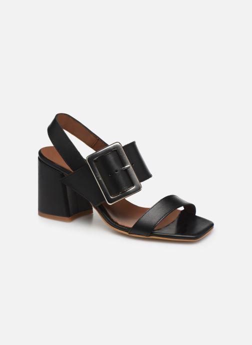 Sandales et nu-pieds Made by SARENZA South Village Sandales à Talons #5 Noir vue droite