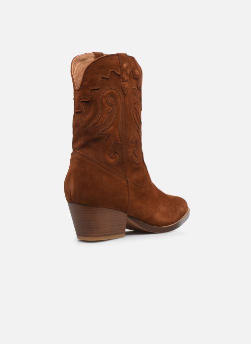 Stivaletti e tronchetti Made by SARENZA Summer Folk Boots #3 Marrone immagine frontale