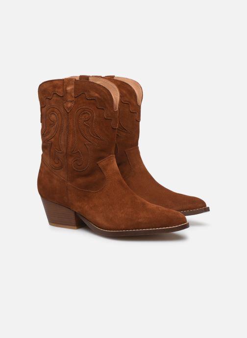 Botines  Made by SARENZA Summer Folk Boots #3 Marrón vistra trasera