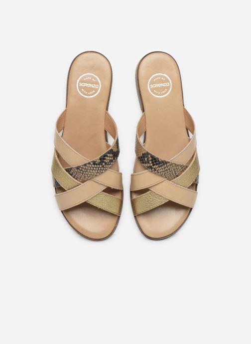 Mules et sabots Made by SARENZA South Village Sandales Plates #5 Beige vue portées chaussures