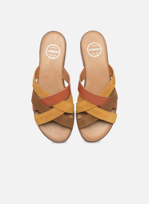 Mules et sabots Made by SARENZA South Village Sandales Plates #5 Marron vue portées chaussures
