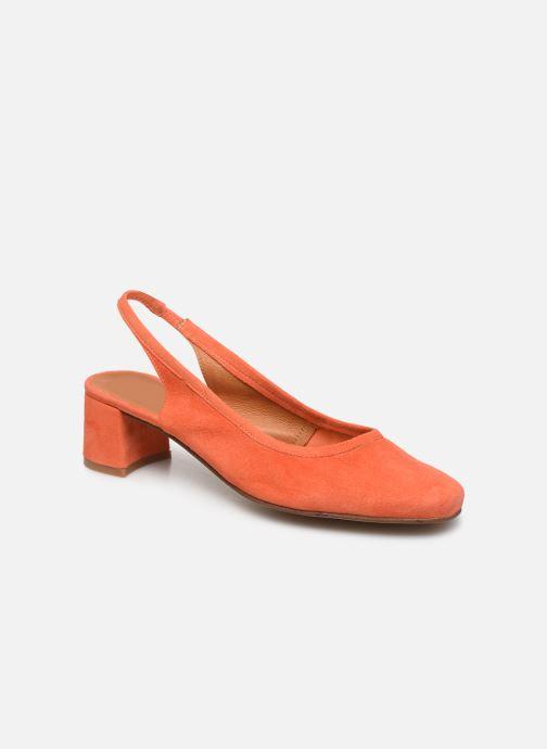 Zapatos de tacón Made by SARENZA South Village Escarpin #6 Naranja vista lateral derecha