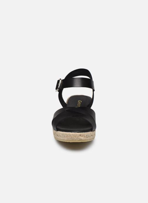 Espadrilles Georgia Rose Ifona Noir vue portées chaussures