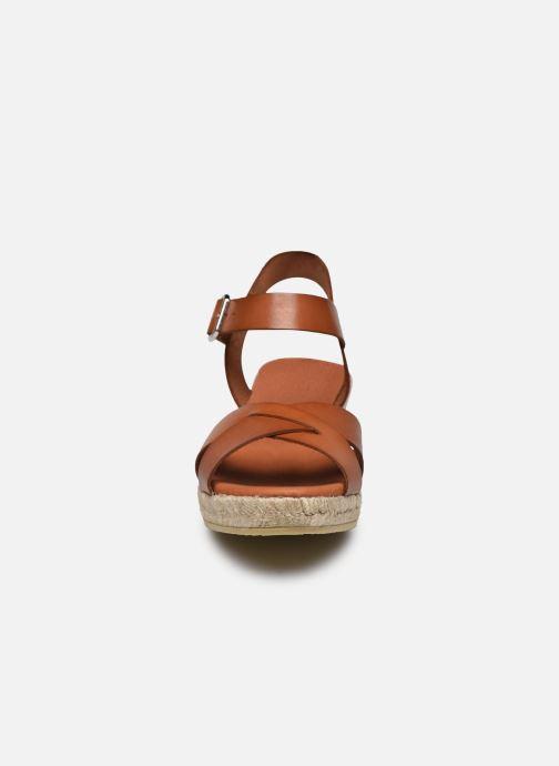 Espadrilles Georgia Rose Ifona Marron vue portées chaussures