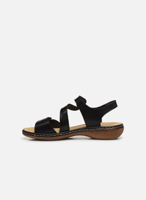 Sandali e scarpe aperte Rieker Ababe Nero immagine frontale