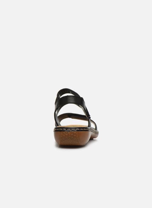 Sandali e scarpe aperte Rieker Ababe Nero immagine destra