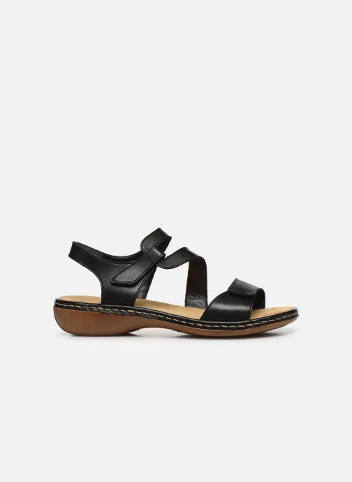 Sandali e scarpe aperte Rieker Ababe Nero immagine posteriore