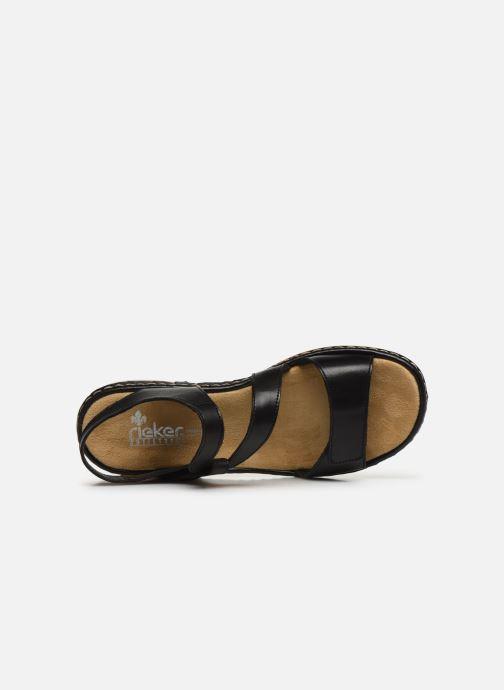 Sandali e scarpe aperte Rieker Ababe Nero immagine sinistra