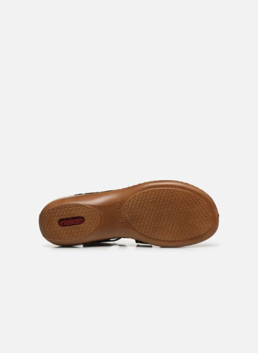 Sandali e scarpe aperte Rieker Ababe Nero immagine dall'alto