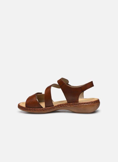 Sandales et nu-pieds Rieker Ababe Marron vue face
