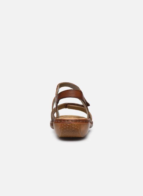 Sandales et nu-pieds Rieker Ababe Marron vue droite