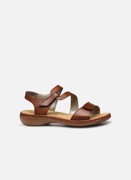 Sandales et nu-pieds Rieker Ababe Marron vue derrière