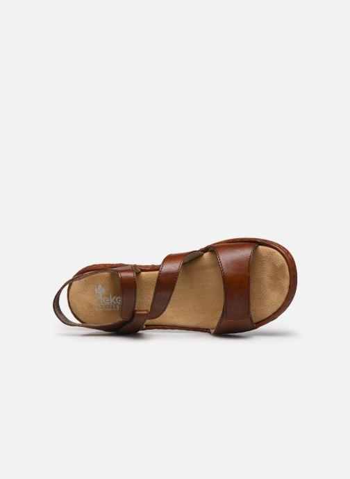 Sandales et nu-pieds Rieker Ababe Marron vue gauche