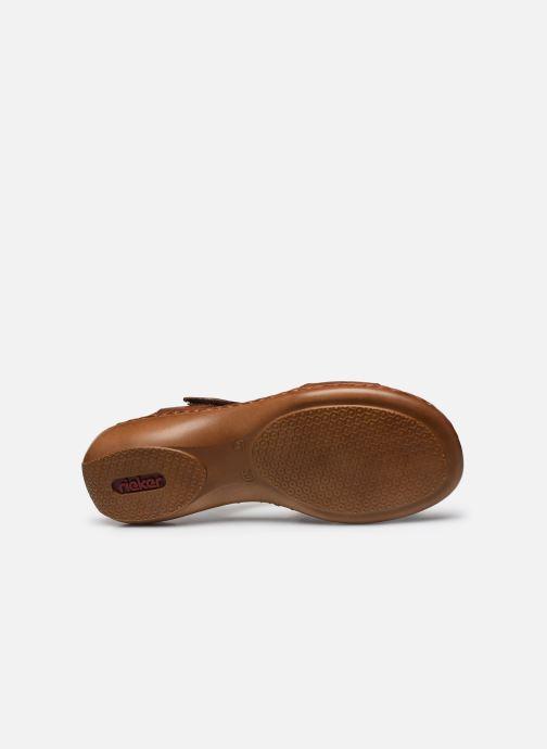 Sandales et nu-pieds Rieker Ababe Marron vue haut
