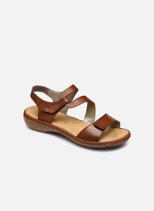 Sandales et nu-pieds Rieker Ababe Marron vue détail/paire