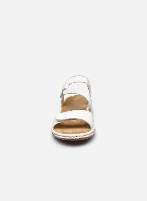 Sandales et nu-pieds Rieker Ababe Blanc vue portées chaussures