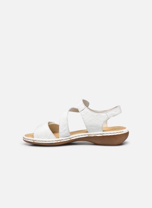 Sandales et nu-pieds Rieker Ababe Blanc vue face