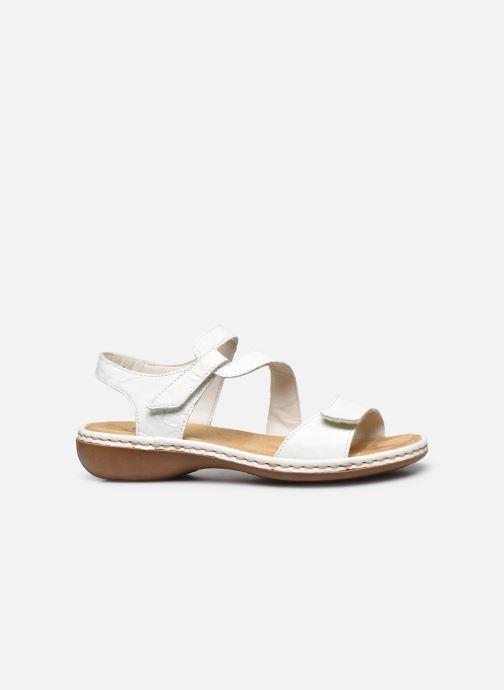 Sandales et nu-pieds Rieker Ababe Blanc vue derrière