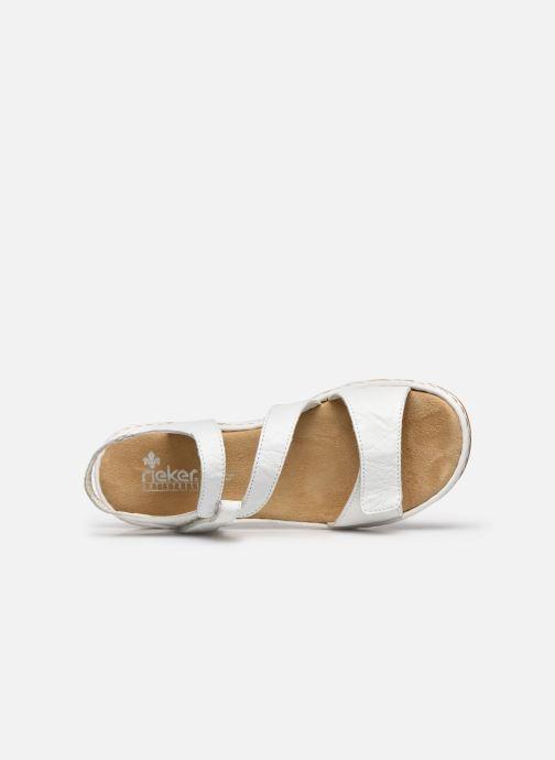 Sandales et nu-pieds Rieker Ababe Blanc vue gauche