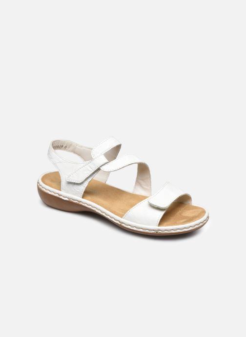 Sandales et nu-pieds Rieker Ababe Blanc vue détail/paire