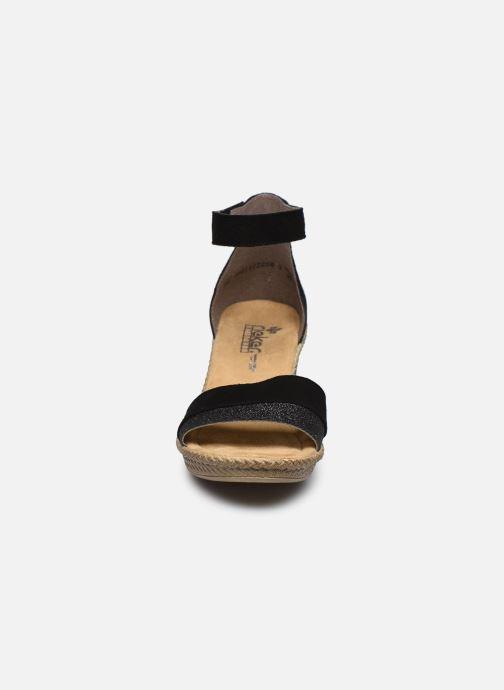 Sandales et nu-pieds Rieker Lisabeth Noir vue portées chaussures