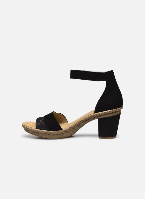 Sandales et nu-pieds Rieker Lisabeth Noir vue face