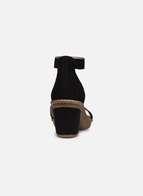 Sandales et nu-pieds Rieker Lisabeth Noir vue droite