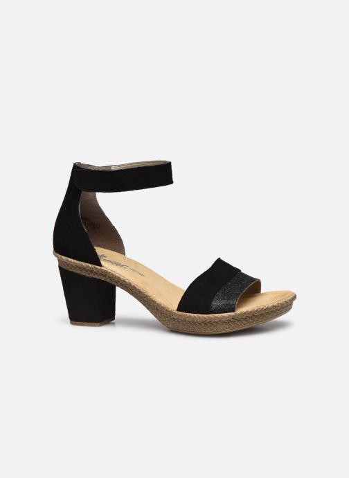 Sandales et nu-pieds Rieker Lisabeth Noir vue derrière