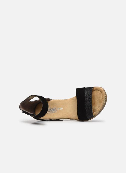Sandales et nu-pieds Rieker Lisabeth Noir vue gauche