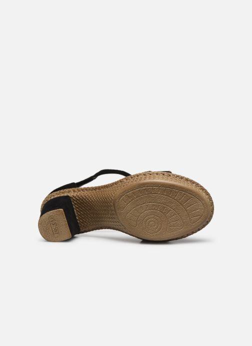 Sandales et nu-pieds Rieker Lisabeth Noir vue haut