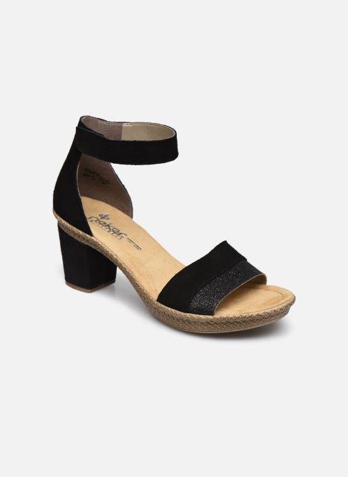 Sandales et nu-pieds Rieker Lisabeth Noir vue détail/paire