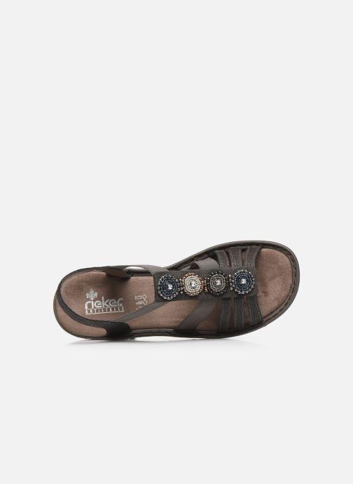 Rieker Anjali (Gris) Sandales et nu pieds chez Sarenza