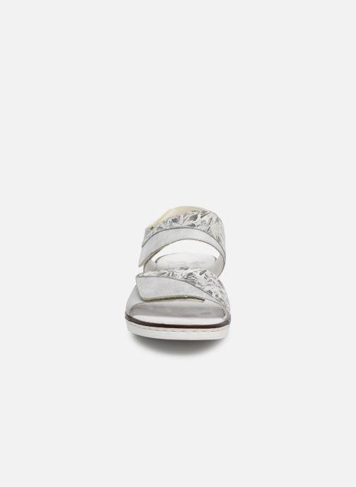 Sandales et nu-pieds Rieker Adam Argent vue portées chaussures
