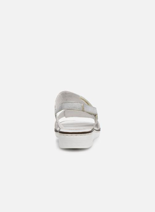 Sandales et nu-pieds Rieker Adam Argent vue droite