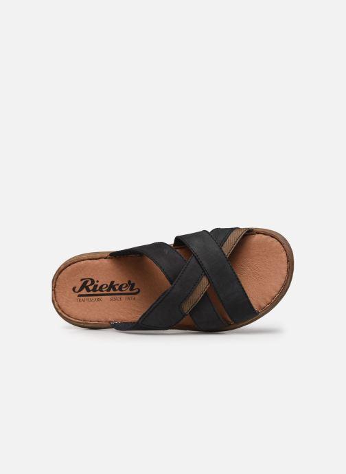 Sandales et nu-pieds Rieker Witold Bleu vue gauche