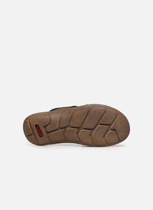 Sandales et nu-pieds Rieker Witold Bleu vue haut